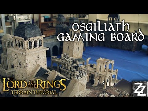 Osgiliath Lord of the Rings HUGE Gaming board ~ Terrain Tutorial