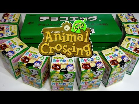 Opening 10 Animal Crossing Choco Eggs (Like Kinder Surprise) SEALED CASE
