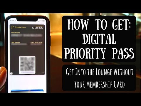 How to Get Your Digital Priority Pass | Carrying Your Membership Card on Your Smartphone