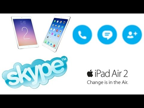 How to add someone on skype on Ipad Air 2