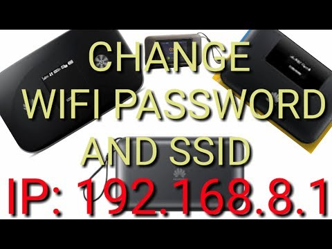 How to change huawei pocket wifi password and network name from your mobile phone or laptop