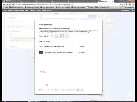 Setting Share Permissions in Google My Maps