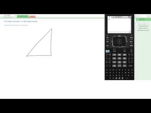 Find angles and sides in a right angle triangle   calculator