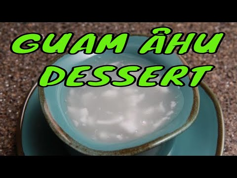 Ahu or young coconut dessert soup