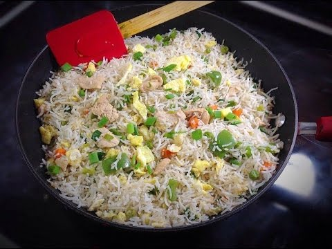 Chicken Fried Rice- Restaurant Style Indian Style Homemade Easy Video Tutorial