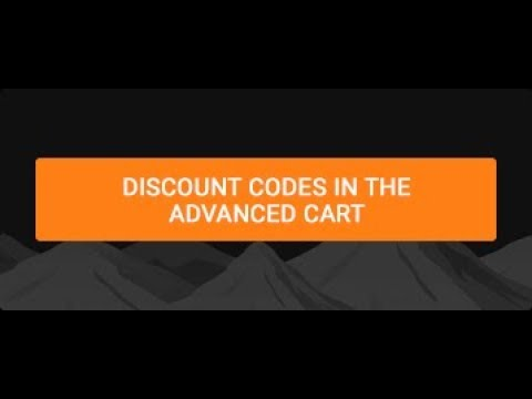 Discount codes in the Advanced Cart