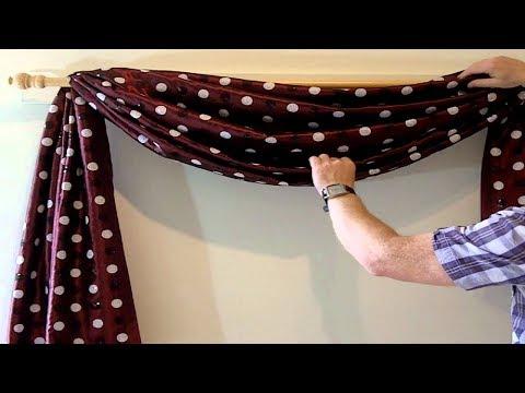 Window Scarf Ideas Ideas Fof Hanging A Window Scarf | How to Hang a Window Scarf