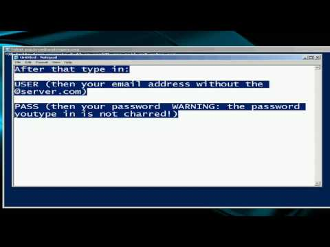 How to check your e-mail using telnet