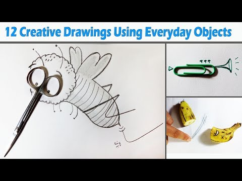 12 Creative Drawings Using Everyday Objects - Kaif Sketch