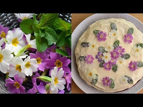 How to Crystallize Edible Flowers for Cakes and Desserts