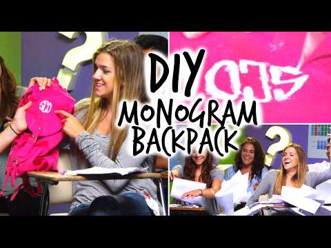 DIY Back to School: Backpack!