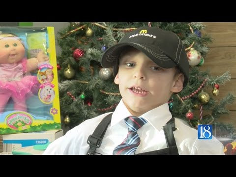 7-year-old gets a job at McDonald's to buy presents for other kid