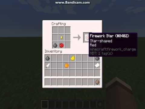 How To Make A Simple Fire Firework On Minecraft
