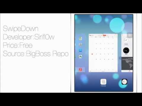 SwipeDown: Swipe Down To kill Apps in Switcher on iOS 7