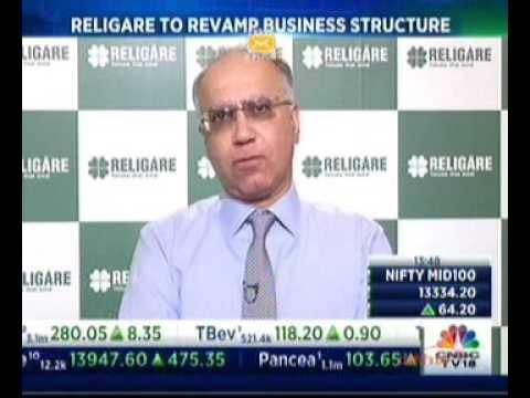 Mr. Sunil Godhwani on CNBC TV18 |  Religare's corporate structure reorganization