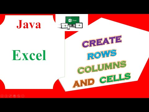 Java Excel Ep.01 -  Create Rows,Cells and Columns
