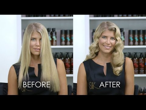 Hollywood Waves Hair Tutorial with Silk Oil of Morocco