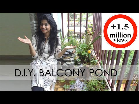 Indian Balcony Makeover DIY on a Budget I  Balcony Pond I Balcony Decorating Ideas India I ASK IOSIS