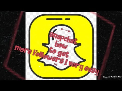 How to get loads Snapchat followers 👻 very easy