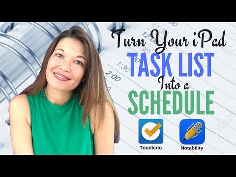 Make Your Task List into a Schedule on the iPad with Toodledo and Notability