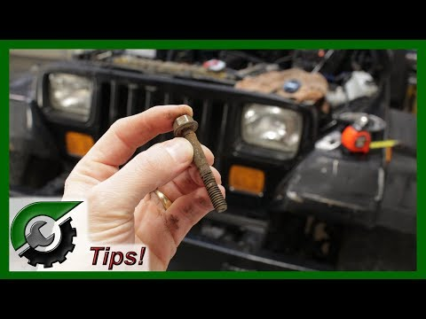 How to remove stuck bolt: Rusted bolt