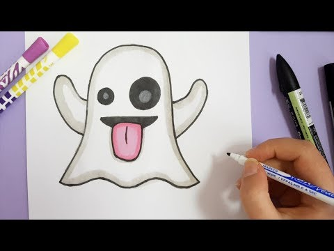 HOW TO DRAW GHOST EMOJI - SNAPCHAT