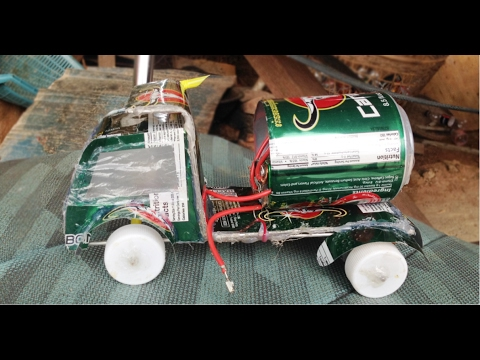 How to Make An Electric Toy Car From Cans - Life Hack For Kids Project