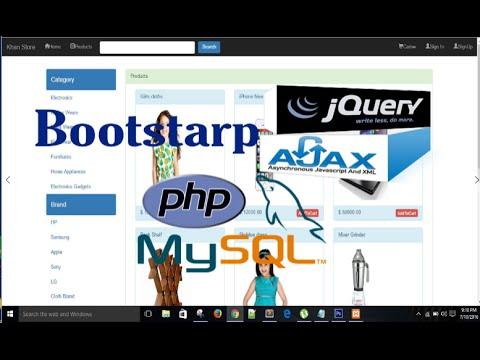 Shopping Cart Tutorial- Bootstrap PHP Mysqli Jquery-Ajax Part 2
