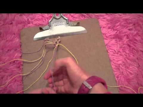 How to make the double zig zag friendship bracelet: part 1
