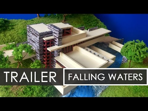 How to make a model of Falling Waters | Frank Lloyd Wright | Trailer