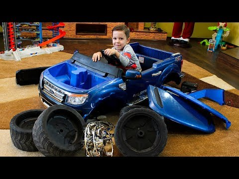 Funny PAW PATROL Ride on Power Wheels cars Unboxing and Assembling Cars video for kids