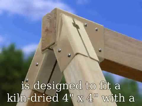 4x4 Swing Set Brackets