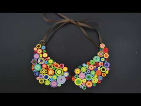 Summer Paper Crafts - How to make a Quilling Necklace