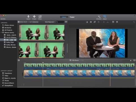 iMovie 10.0 Greenscreen Tutorial