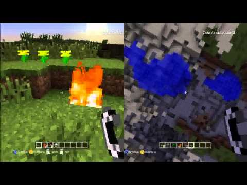 MineCraft Xbox 360 TNT Tower, Creative Mode, and Lighting Animals on Fire