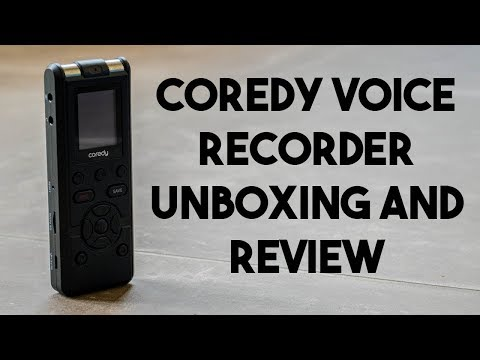 Coredy Voice Recorder Unboxing and Review!