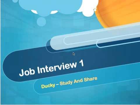 Job Interview 1
