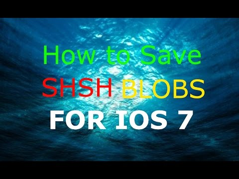 How to save SHSH Blobs 2014