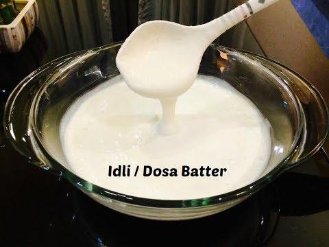 Idli Dosa Batter Recipe - How To Make Perfect Batter For Soft Idli - Dosa Batter Recipe