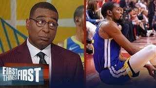 Warriors made a mistake clearing Kevin Durant for GM 5 - Cris Carter   NBA   FIRST THINGS FIRST