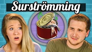 TEENS EAT SURSTRÖMMING! (Super Smelly Fish) | Teens Vs. Food