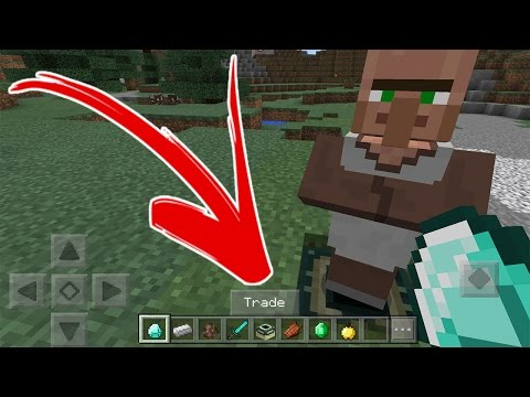 HOW TO MAKE VILLAGERS CARRY YOUR ITEMS, TRADE, AND TAME | Minecraft PE 0.17.0 Addon