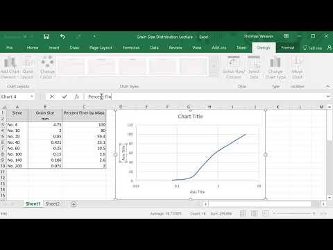 Semi-log Grain Size Plot in Excel