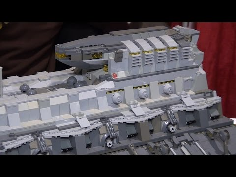 Giant custom LEGO spaceships | BrickFair Alabama 2016