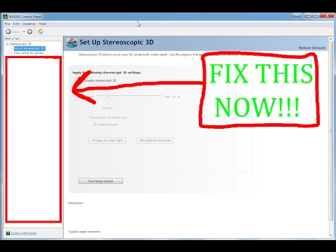 How to fix your Nvidia Control Panel!