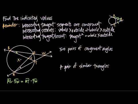 intersecting tangent and secant lines of circles (KristaKingMath)