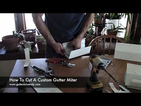 How to Cut a Custom Gutter Miter
