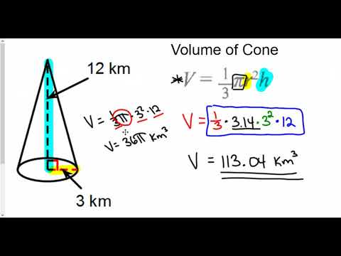 volume of cone pyramid and sphere
