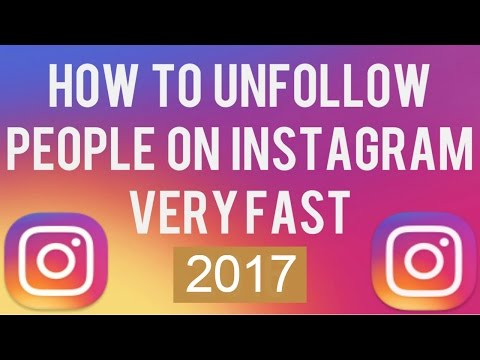 How to unfollow many people on instagram at once.|LATEST TRICK 2017|