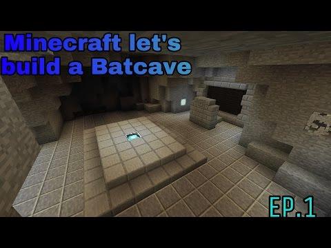 Minecraft let's build a Batcave EP.1 [BAT COMPUTER]